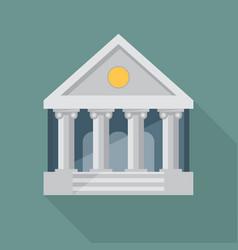 bank flat vector image