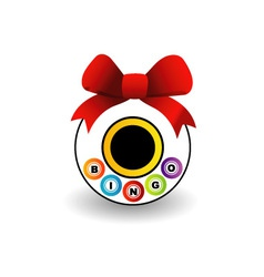 Bingo logo with a red bow vector image