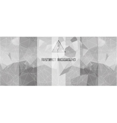 Black and white background with triangles and vector image