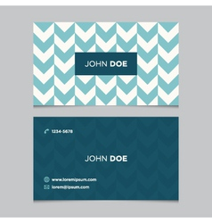 business card pattern blue 06 vector image vector image