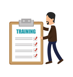 Business people with checklist training icon vector