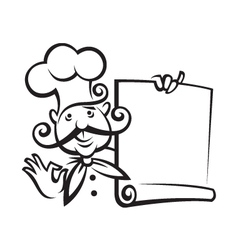 chef icon design vector image vector image