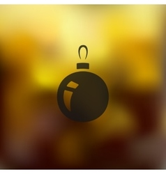 christmas ball icon on blurred background vector image vector image