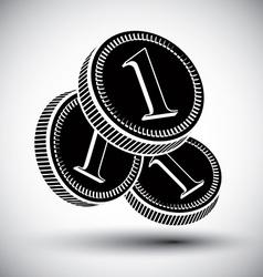 Coins cash money simple single color icon vector image