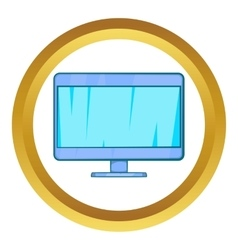 Computer monitor icon vector