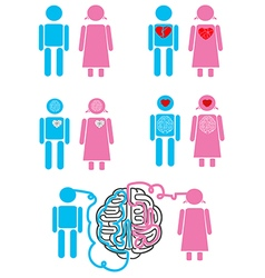 Couple relationship concept emoticons vector image vector image