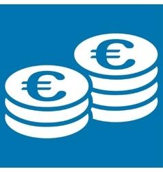 Euro coins icon vector