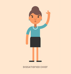 expressions and emotions dissatisfied chief vector image