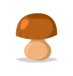 Fresh mushroom isolated vector image