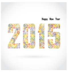 Happy new year 2015 creative greeting card vector image