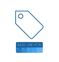 Isolated tag outline label element can be vector