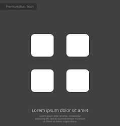 list premium icon white on dark background vector image vector image