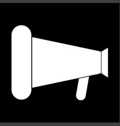 loud speaker or megaphone the white color icon vector image vector image