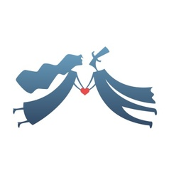 loving man and woman with vector image