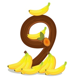 Nine bananas vector image vector image