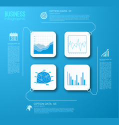 web business charts infographics vector image