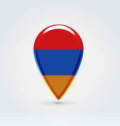 Armenian icon point for map vector image