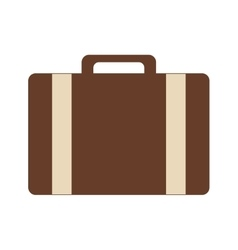 Classic suitcase icon vector