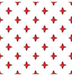 Four pointed star pattern cartoon style vector