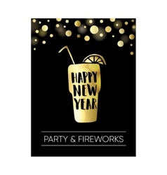 Happy new year greeting card invitation Poster vector image