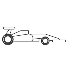 Race car of formula racing concept vector