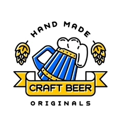 Craft beer bages vector