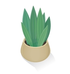 Flower in pot icon green nature leaf gardening vector