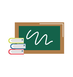 School board with books tools study vector
