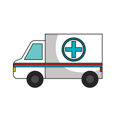 Ambulance car isolated icon vector