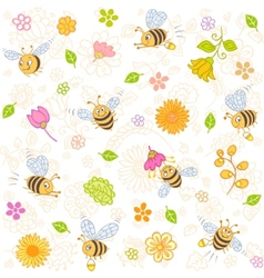 Bees seamless vector