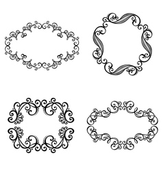 Set of ornamental frames for text vector