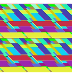 Flat colorful seamless pattern with skewed vector