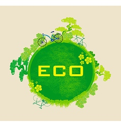 Ecology card design vector