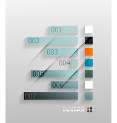 3d paper infographic vector image