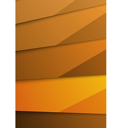 Golden abstract layer folder corporate template vector