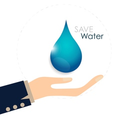 World water day concept with woman hands hold vector