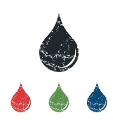 Drop grunge icon set vector
