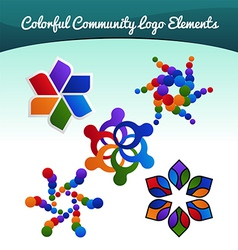 Community logo vector