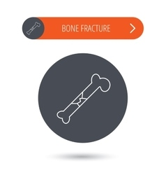 Bone fracture icon traumatology sign vector