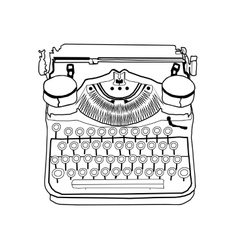 Hand drawn typewriter vintage vector