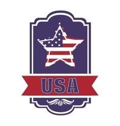 Usa emblematic seal design vector