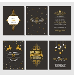 Christmas and new year cards vector