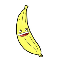 Comic cartoon happy banana vector