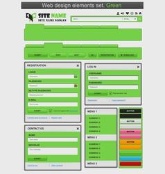 web design elements set green vector image