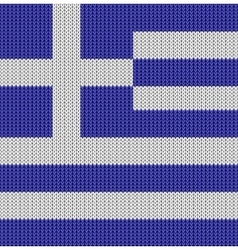 Knitted flag of greece vector