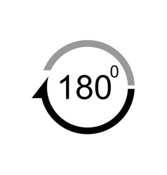 angle 180 degrees icon vector image vector image