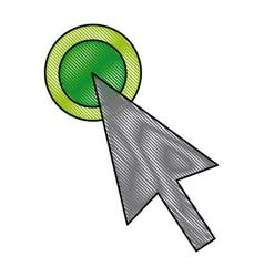 arrow selection point click icon vector image vector image