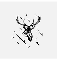 Black and white monochrome emblem symbol logotype vector
