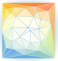 bright orange blue green spring mood low poly vector image vector image