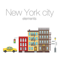 City elements of new york vector